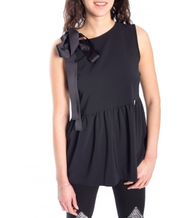 DENNY ROSE Blouse with bow BLACK 52DR42002