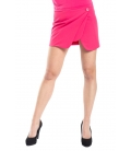 DENNY ROSE Short skirt with button FUXIA 52DR72002