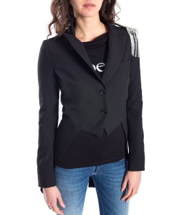 DENNY ROSE Jacket with buttons + brooch BLACK 52DR32001