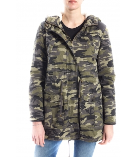 SLIDE OF LIFE Parka camouflage with zip and buttons art. PKA01