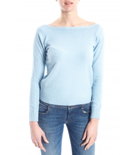 SLIDE OF LIFE Sweater with wide neck LIGHT BLUE art. ELA12