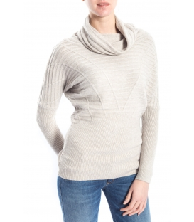 SLIDE OF LIFE Sweater wih neck BEIGE art. ELA13