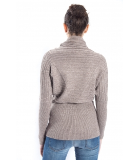 SLIDE OF LIFE Sweater wih neck TORTORA art. ELA14