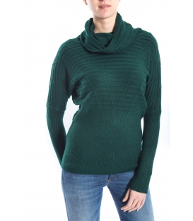 SLIDE OF LIFE Sweater with neck GREEN art. ELA15