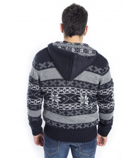 BAKER'S Sweater / Jacket with hood NAVY Art. D5839