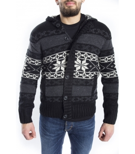 BAKER'S Sweater / Jacket with hood BLACK Art. D5839