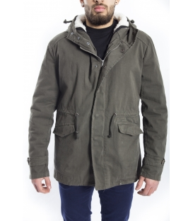 WILFED Parka with hood and zip GREEN G1531