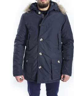 NUOVO GIGLIO Parka with hood and zip BLUE G-101