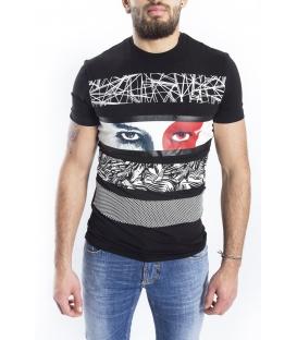 ANTONY MORATO T-shirt MAN with print BLACK MMKS00851