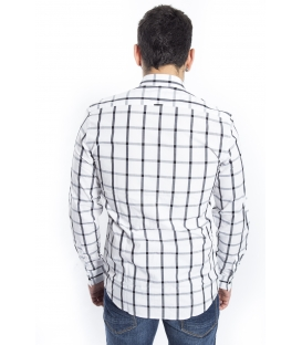 ANTONY MORATO Shirt MAN with squares WHITE and BLACK MMSL00296