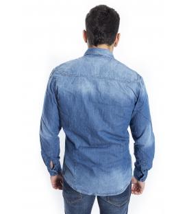 ANTONY MORATO Shirt MAN in jeans DENIM MMSL00147