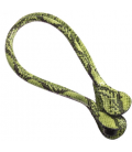 Manici lunghi in ecopelle snake giallo