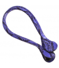 Manici lunghi in ecopelle snake viola