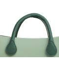 Manici corti in ecopelle verde