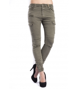 Jeans boyfriend with pockets GREEN CY516-4