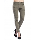 Jeans woman combact boyfriend with pockets GREEN CY516-4