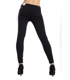 Pants woman cinos baggy BLACK CY551-1