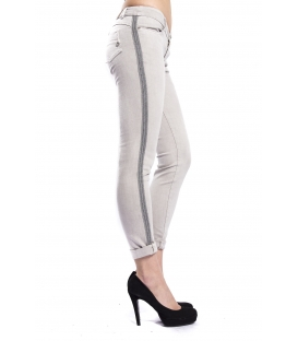 MARYLEY Jeans woman slim fit push-up GRIGIO Art. B690/T08