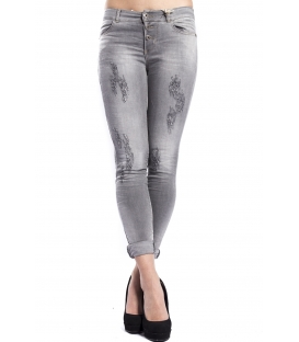 MARYLEY Jeans woman slim fit push-up GRIGIO Art. B690/G9B