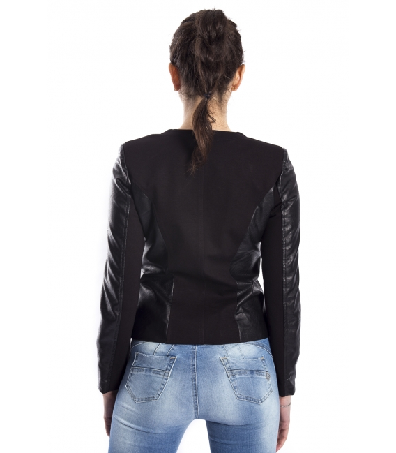 Jacket in eco-leather with hooks art. AL101