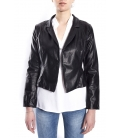 SUSY MIX Jacket in eco-leather BLACK art. 612