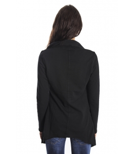 SUSY MIX Asymmetric sweatshirt BLACK Art. 5314