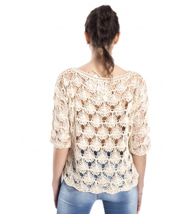SUSY MIX Perforated sweater PANNA art. 52509