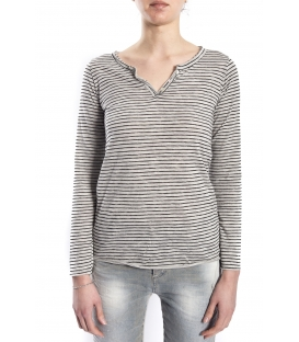 SUSY MIX Jersey with stripes GREY and BLACK art. 5041