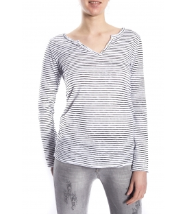 SUSY MIX Jersey with stripes WHITE and BLACK art. 5041