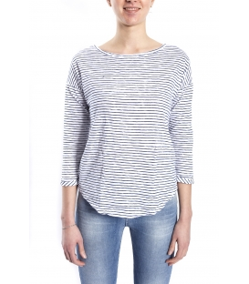 SUSY MIX Jersey with stripes WHITE and BLUE art. 6481