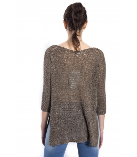 SUSY MIX Sweater long sleeve BROWN/GREEN art. 53203