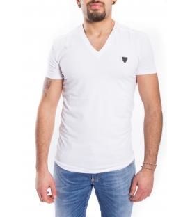 ANTONY MORATO T-shirt UOMO scollo V con logo BIANCO MMKS00738