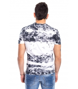 ANTONY MORATO T-shirt MAN with print WHITE and BLACK MMKS00822
