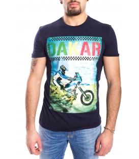 ANTONY MORATO T-shirt MAN with print BLU MARINE MMSW00792