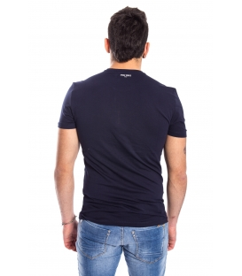 ANTONY MORATO T-shirt MAN with print BLU MARINE MMKS00792