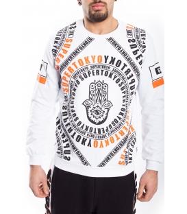 STK SUPER TOKYO Sweatshirt MAN with print WHITE 1460