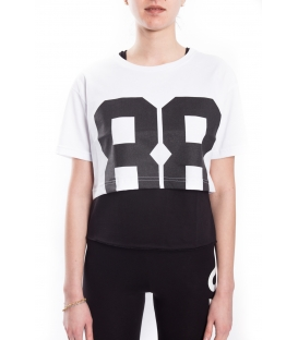 STK SUPER TOKYO T-shirt WOMAN with number WHITE STKD124