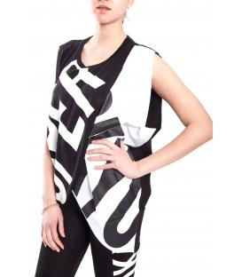STK SUPER TOKYO T-shirt WOMAN with print BLACK STKD098
