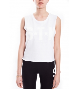 STK SUPER TOKYO Top WOMAN with print WHITE STKD142