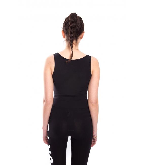 STK SUPER TOKYO Body WOMAN with print BLACK STKD075