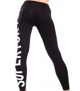 STK SUPER TOKYO Leggings WOMAN with print BLACK STKD093