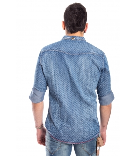 Camicia jeans UOMO in fantasia DENIM Art. A459