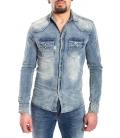 Camicia jeans UOMO con dett. macchie DENIM Art. J-9026