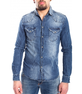 Shirt MAN with rips DENIM Art. J-9028