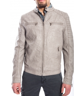Jacket MAN in eco-leather BEIGE Art. GP-1587