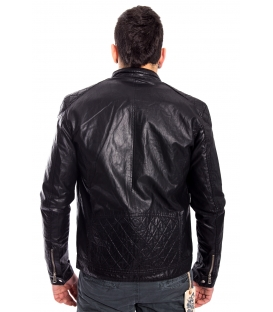 Jacket MAN in eco-leather BLACK Art. FL-2216
