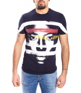 ANTONY MORATO T-shirt MAN with print BLU MARINE MMKS00820