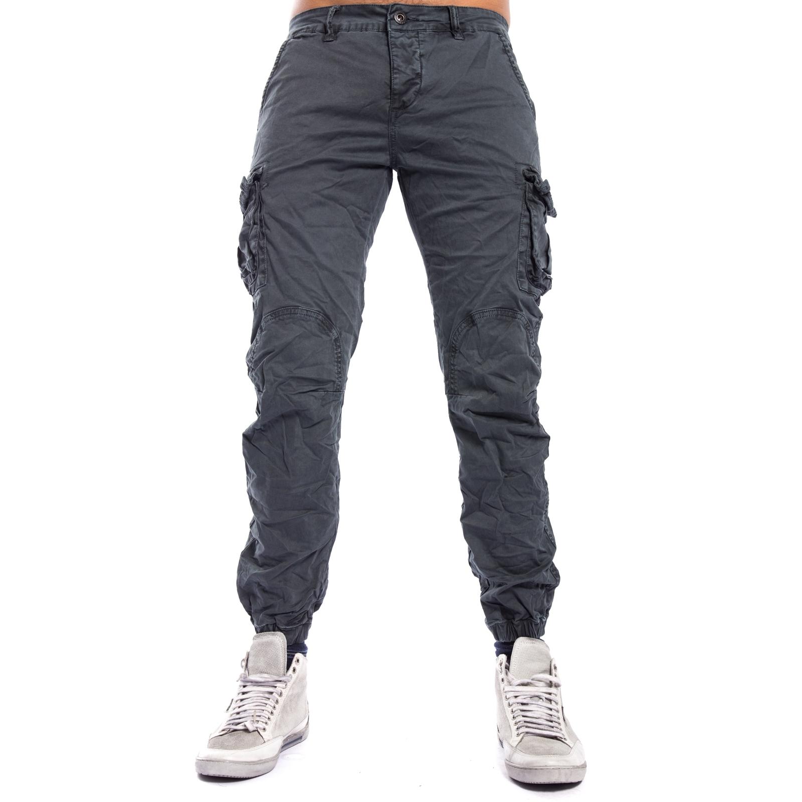 79defba0d0 Pantalone UOMO con tasconi ed elastico in fondo GRAY J-9065