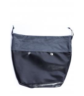Canvas con coulisse in tessuto spalmato grigio per O Bag Mini