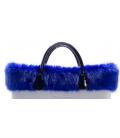 Bordo Ecopelliccia volpe Blu oltremare per O Bag